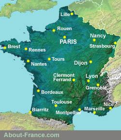 نقشه پاریس