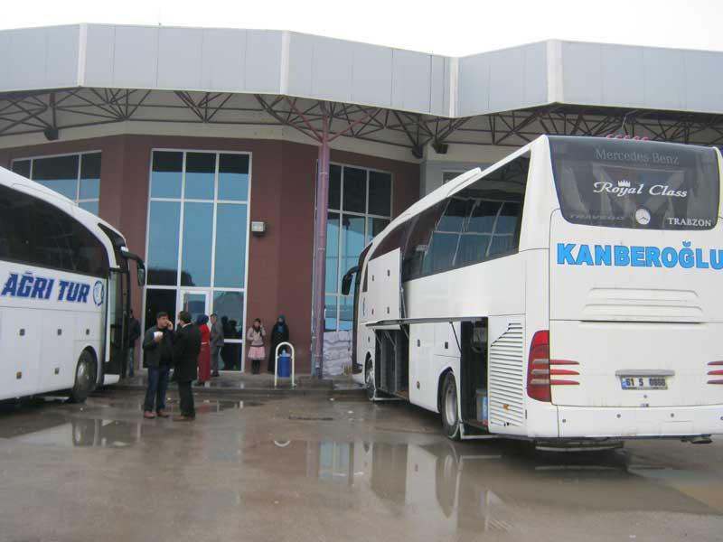 ترمینال مرکزی اتوبوس های شهر دوبایزید ترکیه