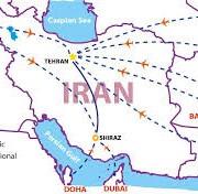 مدت زمان سفر از تهران به سایر کشورها