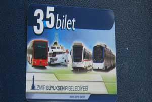 بلیط حمل و نقل عمومی ازمیر