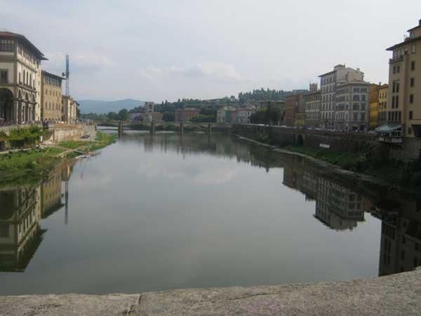 نمایی دیگر از رودخانه ارنو فلورانس