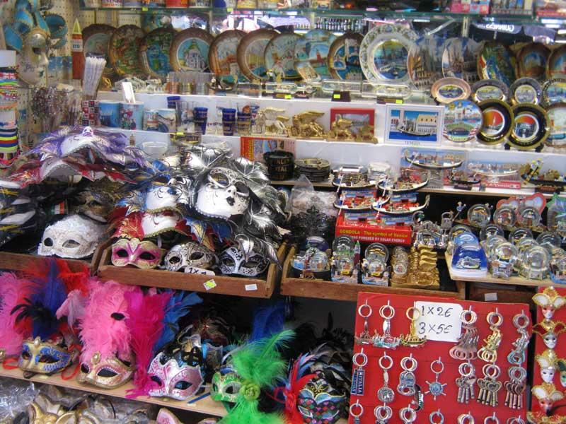 مغازه ماسک در ونیز ایتالیا-ارزان سفر