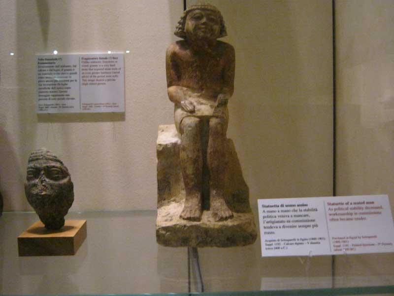 آثار موجود در موزه مصر باستان در تورین ایتالیا