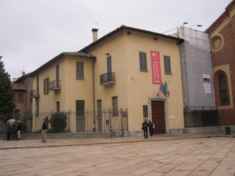 ساختمانی در کنار کلیسای سانتا ماریا دل گرتزی میلان که محل نگه داری تابلوی شام آخر لئوناردو داوینچی می باشد