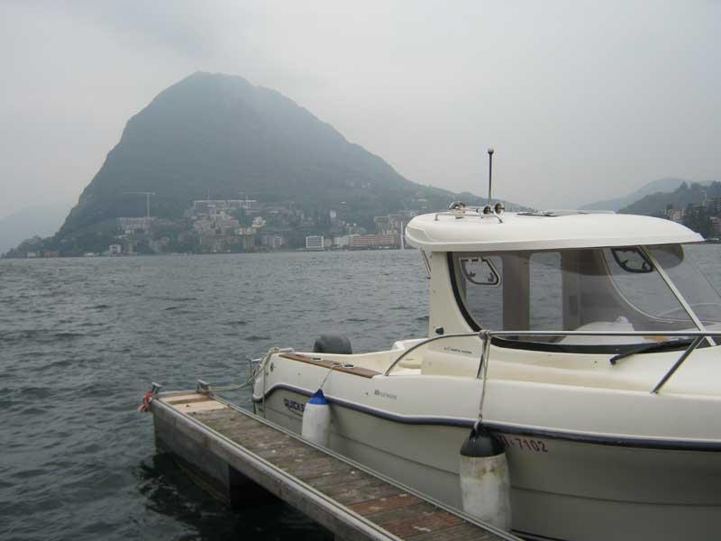 نمایی از دریاچه لوگانو