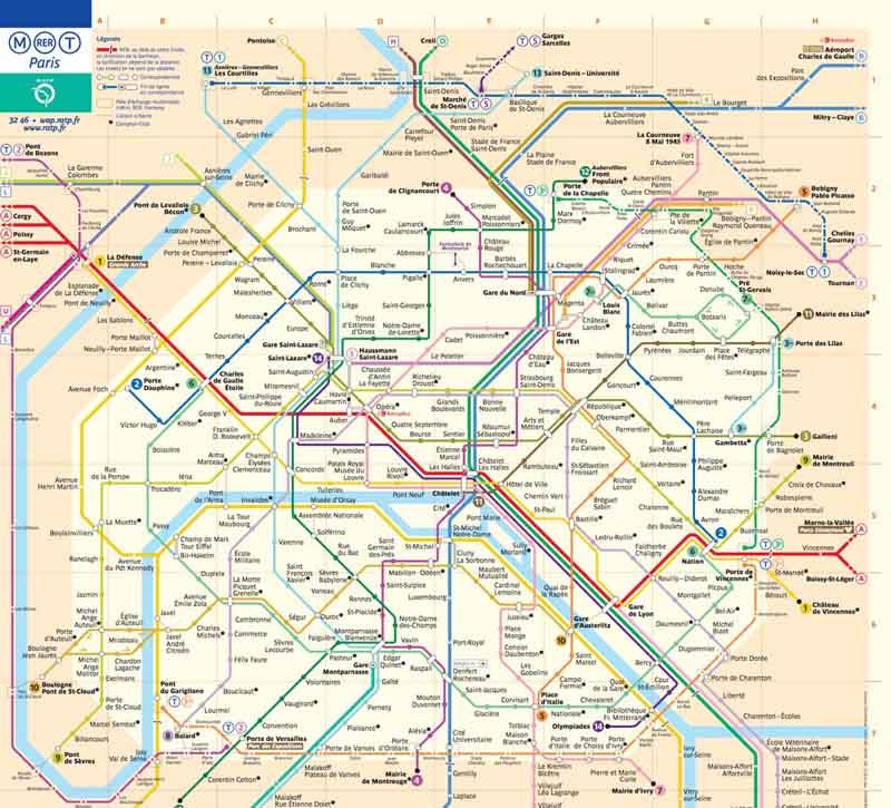 نقشه متروی پاریس
