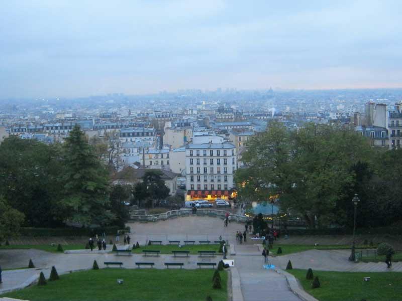 دید به شهر پاریس از کلیسای سکره کر