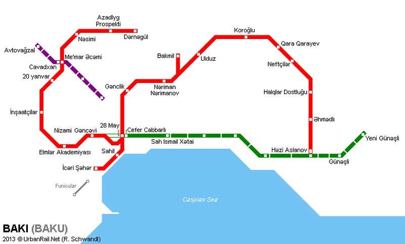 شبکه مترو باکو