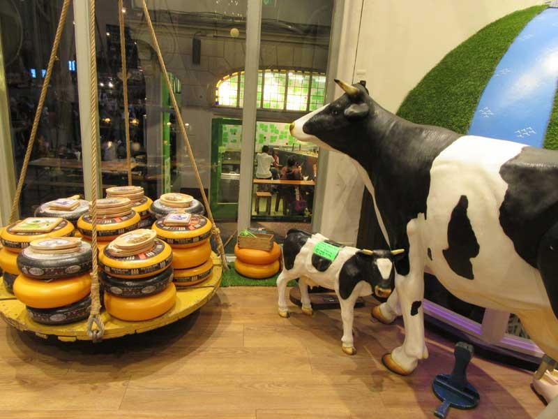 فروشگاه عرضه انواع پنیر در آمستردام