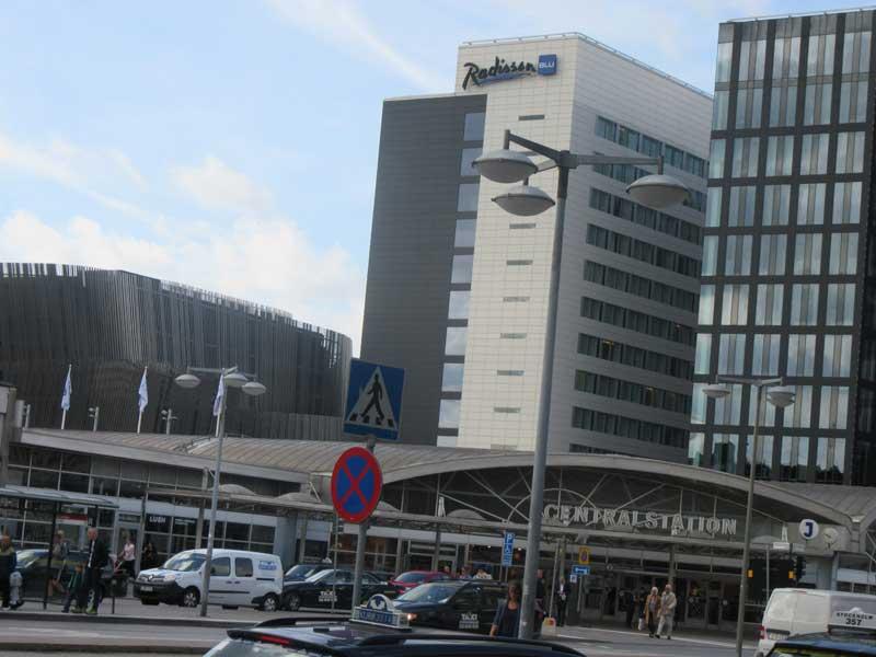 ورودی ایستگاه قطار مرکزی استکهلم