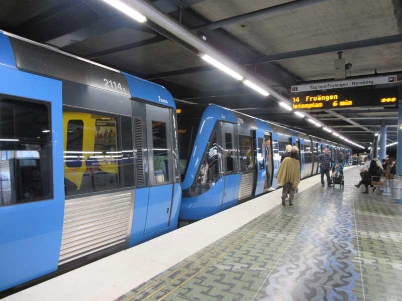 مترو شهر استکهلم