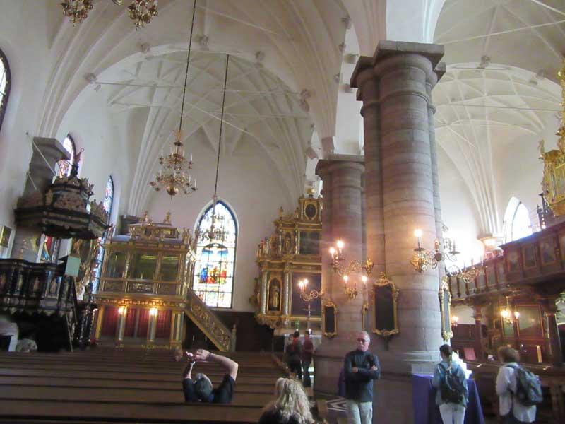 داخل کلیسای آلمانی در منطقه گالما استن استکهلم