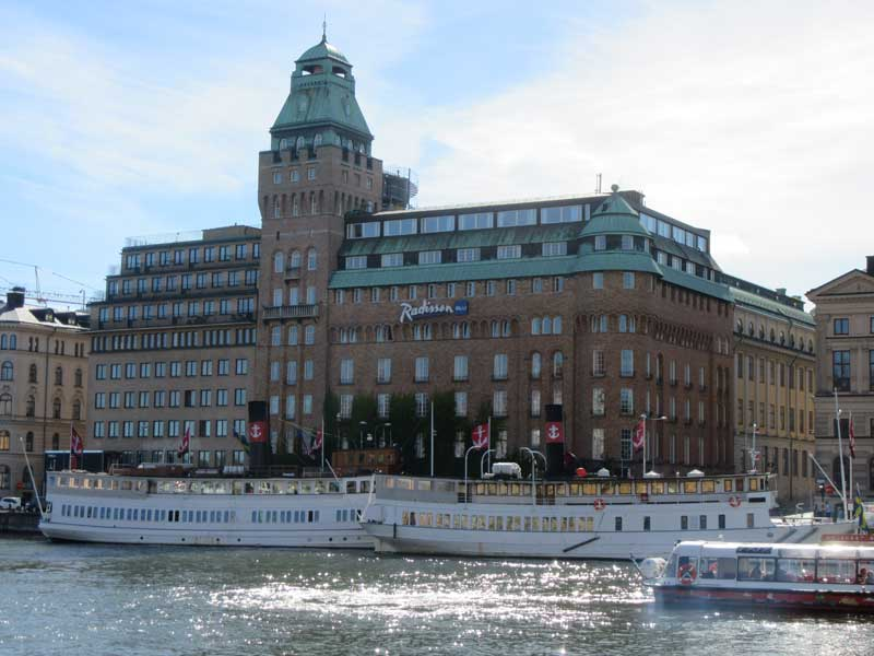 هتل ردیسون بلو استکهلم - شروع مسیر حرکت به سمت اسکانسن