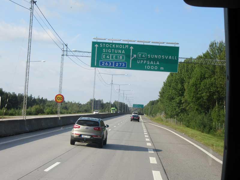 مسیر حرکت از فرودگاه آرلاندا به مرکز شهر استکهلم