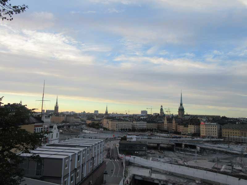 منظره ای از بالای برج گندولن شهر استکهلم