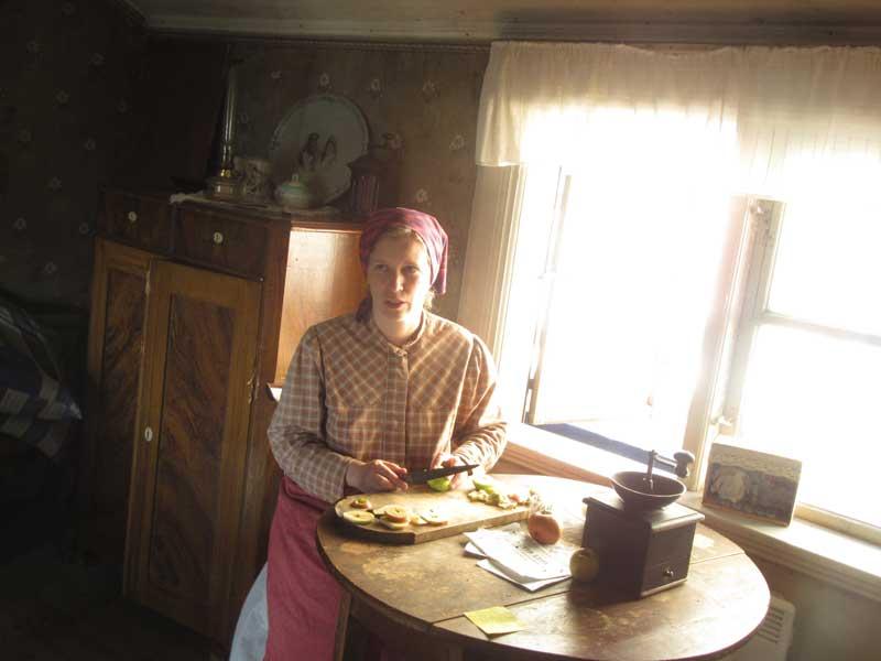 خانه ای در اسکانسن که معرف زندگی قدیم سوئد می باشد