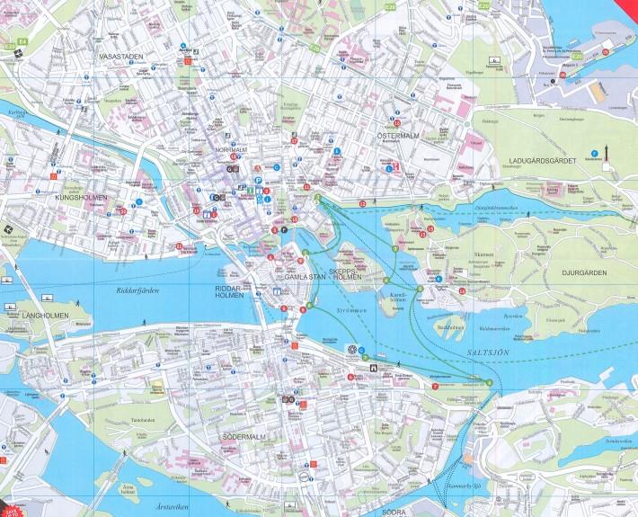 نقشه شهر استکهلم سوئد همراه جزییات