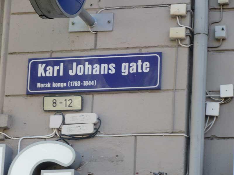 خیابان Kal Johans Gate اسلو