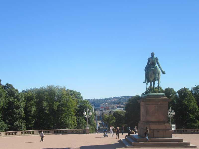 نمایی از شهر اسلو از کاخ سلطنتی نروژ