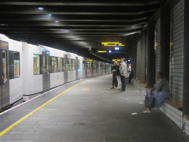 یکی از ایستگاه های مترو اسلو