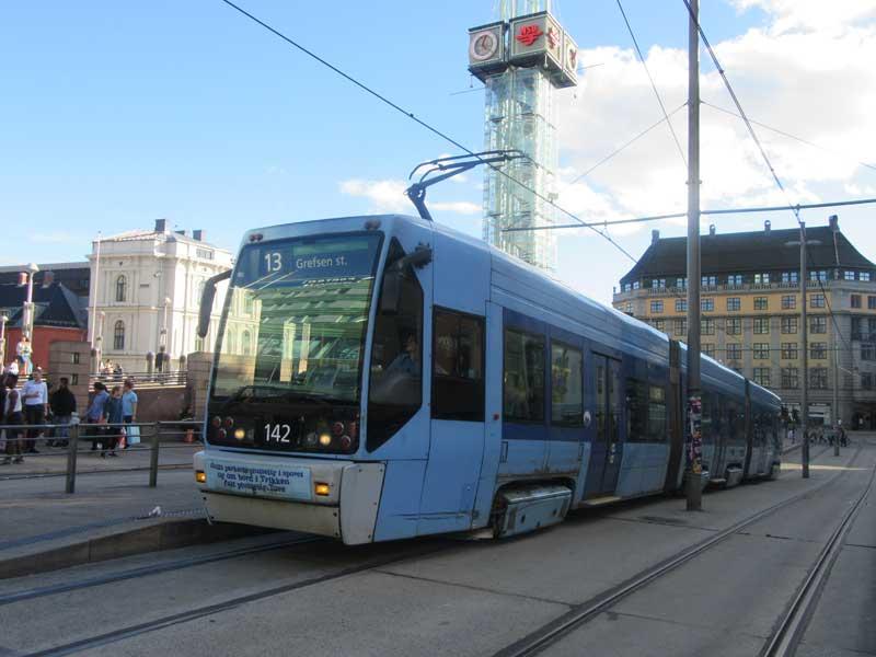 Tram در اسلو پایتخت نروژ